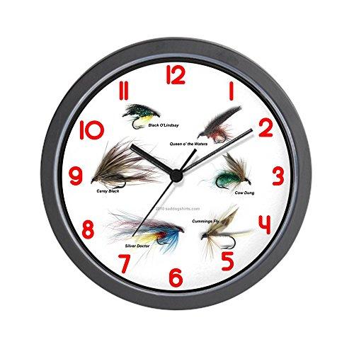 (CafePress - Fishing Time (Clocks) - Unique Decorative 10