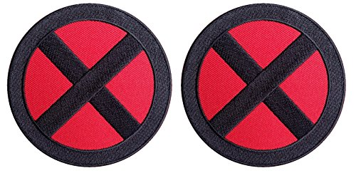 Set of 2 X-men Storm Red-Black Jacket Costume Cosplay Patches - Wolverine Costumes Replica