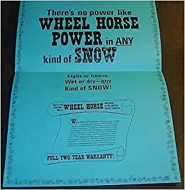 VINTAGE 1969 WHEEL HORSE TRACTOR & SNOWBLOWER SNOW-POWER