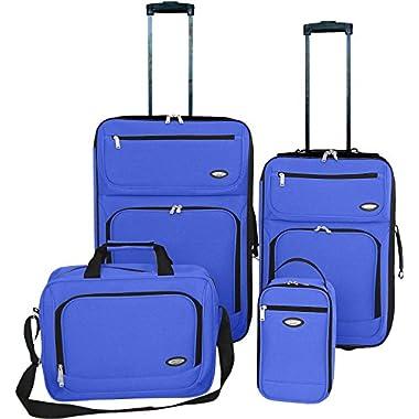 Hercules Jetlite 4-pc. Solid Upright Luggage Set One Size Royal blue