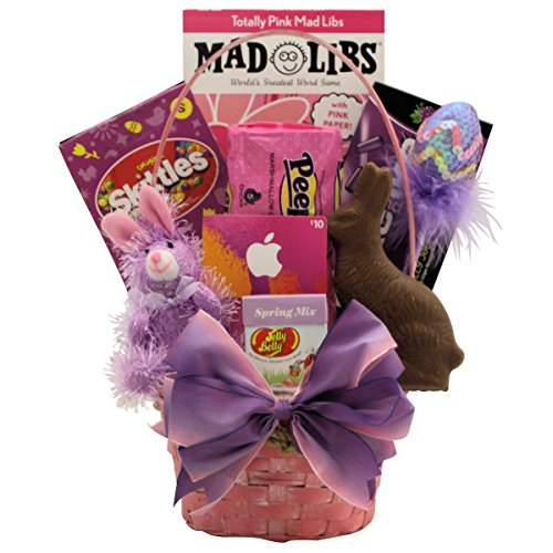 GreatArrivals Totally Girlie Easter Gift Basket for Tween Girls, 10-13 Years, 3 Pound