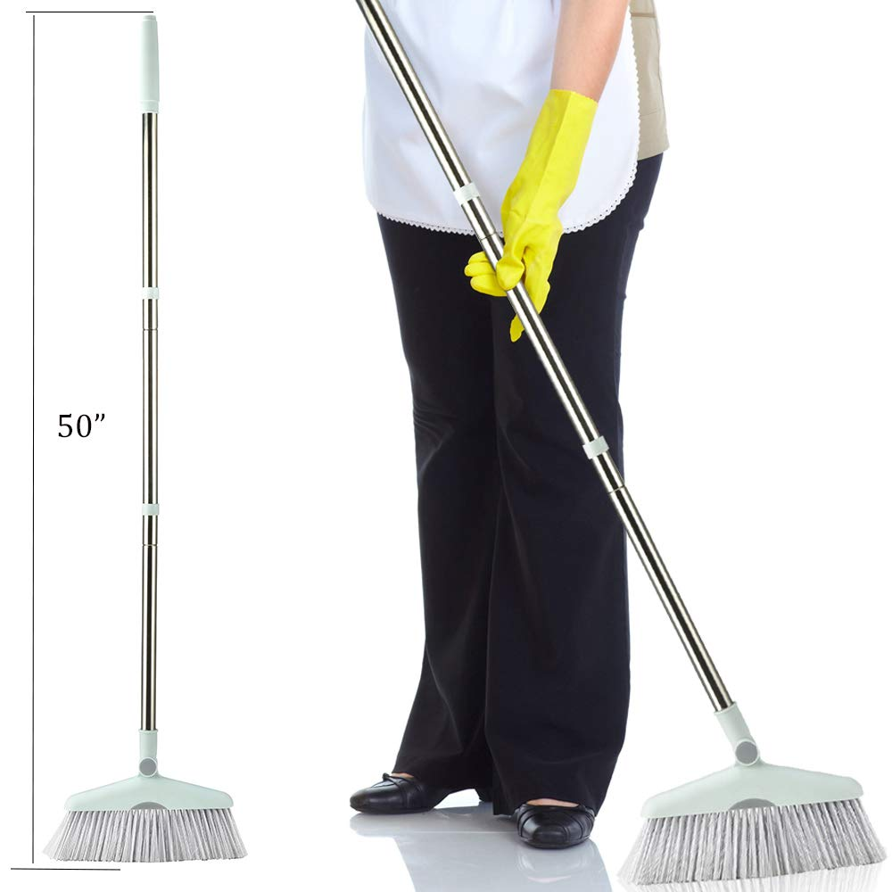 Dust Pan Sweep Set and Broom/Dustpan Cleans Broom Combo with Long Handle Broom Organizer for Home Kitchen Room Office Lobby Floor Use Upright Stand up Dustpan Broom Set by YOUSHANGJIA (Image #4)