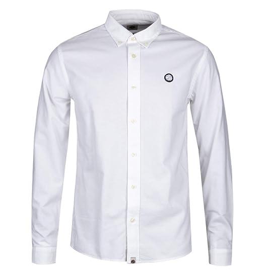 8b7f7bc4ab95 Pretty Green Slim Fit Oldbury White Oxford Shirt - 3: Amazon.co.uk: Clothing