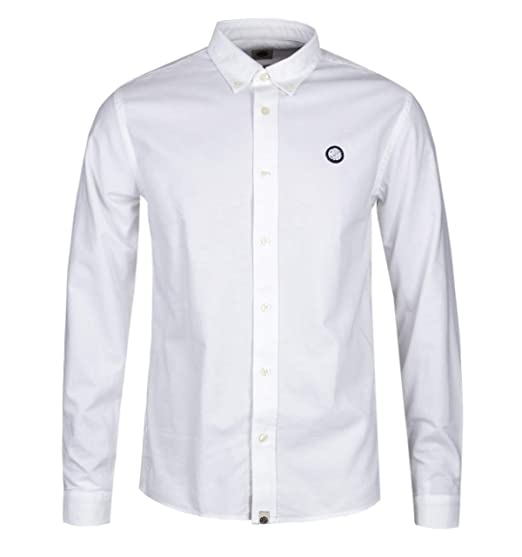 254c84e70ecd Pretty Green Slim Fit Oldbury White Oxford Shirt - 3: Amazon.co.uk: Clothing