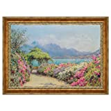 Design Toscano Lake Como from the Villa Canvas Replica Painting: Large