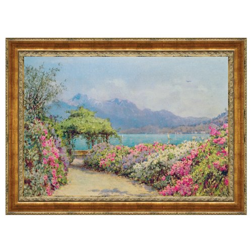 Design Toscano Lake Como from the Villa Canvas Replica Painting: Large by Design Toscano