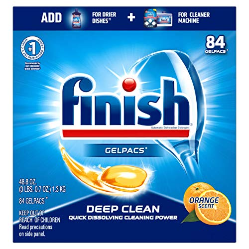 Finish All in 1 Gelpacs Orange, Dishwasher Detergent Tablets 84 ea