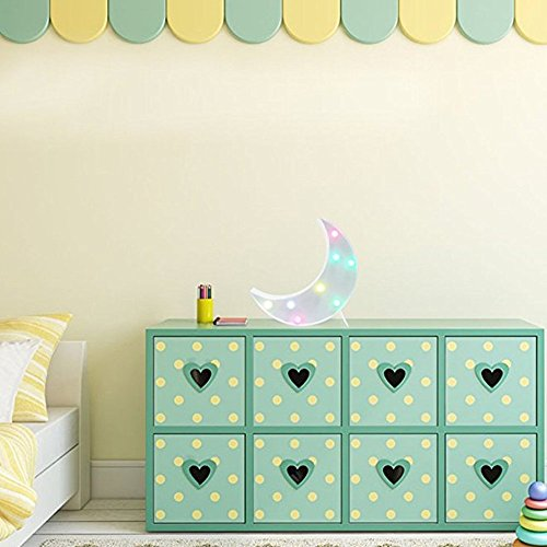 Kids Room Night Lights Moon Shape Signs Light Night Light Wall Decoration for Living Room,Bedroom,Home, Christmas (Moon) by SevenJuly (Image #1)