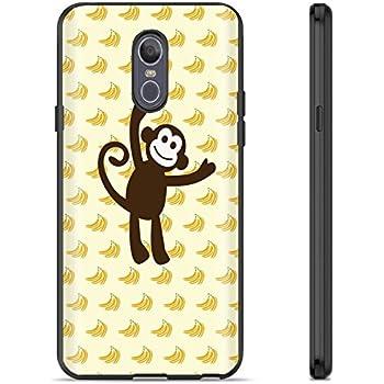 [Mobiflare] LG LG Stylo 4 / Q Stylus [Black] Ultraflex Thin Gel Phone Cover [Monkey See Print]