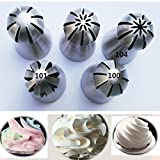 5Pc Russian Flower Cake Decorating Icing Piping Nozzles Pastry Tips Baking Tool