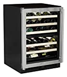 AGA Marvel ML24WDG2LS Dual Zone Wine Cellar, Left Hinge Stainless Steel Frame Glass Door, 24-Inch