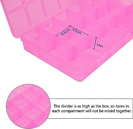 Taladros y /Útiles de Oficina 2 Pack//Color BENECREAT 8 Pack Caja de Pl/ástico de Lapices 4 Colores Caja Port/átil de Almacenamiento para L/ápices Bol/ígrafos