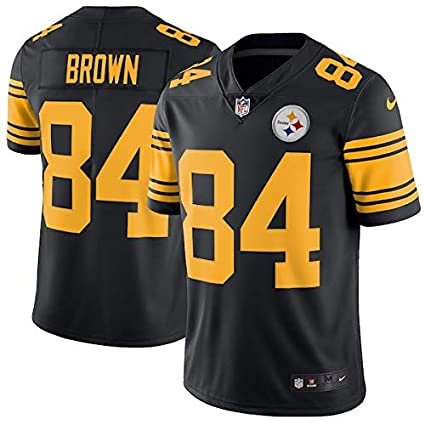 81a1e8df073 Image Unavailable. Image not available for. Color: Nike Mens Pittsburgh  Steelers #84 Antonio Brown Player Color Rush Black Jersey Small