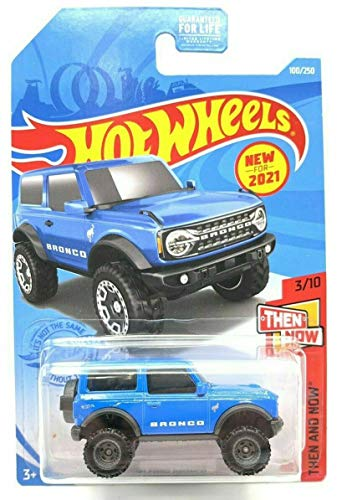 DieCast Hotwheels '21 Ford Bronco (Blue) 100/250 - Then and Now 3/10