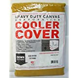 46W x 46D x 34H Down Draft Heavy Duty Canvas Cover for Evaporative Swamp Cooler (46 x 46 x 34)