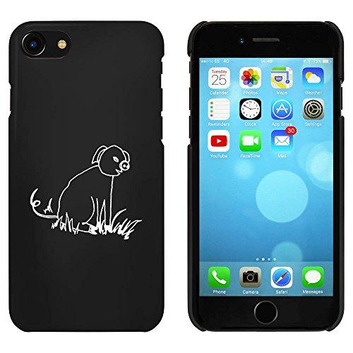 Noir 'Porc Assis' étui / housse pour iPhone 7 (MC00079425)