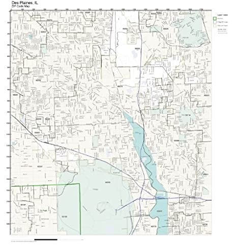 Amazon.com: ZIP Code Wall Map of Des Plaines, IL ZIP Code ... on west chicago il zoning map, lagrange park map, glendale hts map, river grove map, kewanee map, duquoin map, amboy map, mt prospect map, jefferson park map, skokie river map, naperville north high school map, chicago hts map, homewood map, worth map, east loop map, belvidere map, deerfield map, university of illinois at chicago map, cicero illinois map, schererville map,