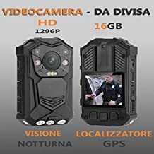 Hi-End Police Body Camera - 1296p Resolution, Night Vision, CMOS Sensor, 140-Degree Viewing Angle, IP65 Waterproof, 2 Inch Display, Time Stamp