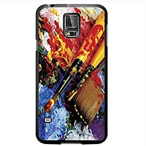 Artist Paint Splatter and Brushes Hard Snap on Phone Case (Galaxy s5 V) by heywan