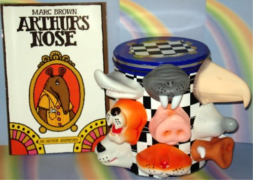 Arthur's Nose WITH 2 Animal Noses (Costumes, Masks) (Book and Toy Combo)]()