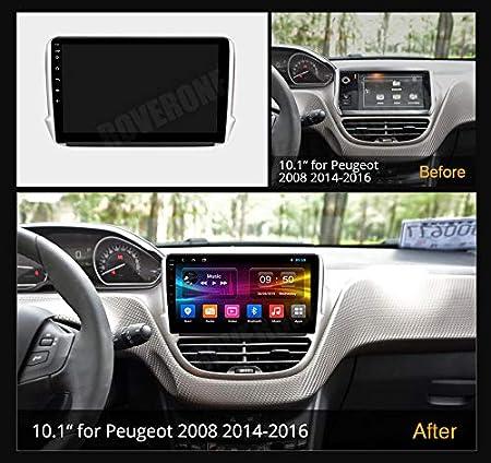 RoverOne Android 7.1 Sistema Navegación GPS del coche para Peugeot 208 2008 con el sistema estéreo de la radio del autorradio de Bluetooth del sistema estéreo de radio del vínculo: Amazon.es: Electrónica