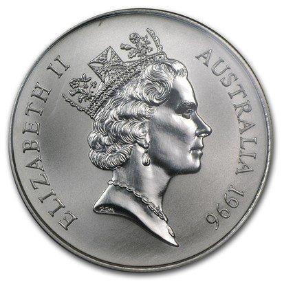 1996 AU Silver Australian Kangaroo 1 dollar Brilliant Uncirculated