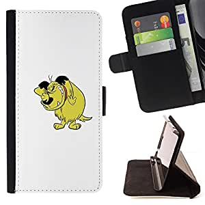 Jordan Colourful Shop - dog cartoon comic character drawing art For Samsung ALPHA G850 - < Leather Case Absorci????n cubierta de la caja de alto impacto > -