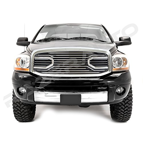 GSI 06-08 Dodge Ram 1500 + 06-09 Dodge Ram 2500/3500 Big Horn Chrome Grille W/Replacement Shell Packaged Grille (Chrome)