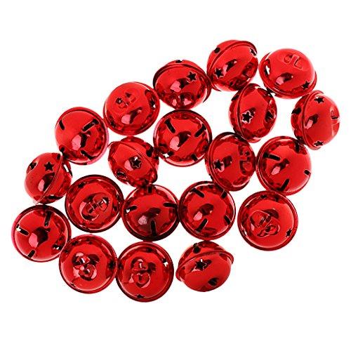 - MonkeyJack 20pcs 35mm Large Metal Jingle Bell for DIY Crafts Pet Dog Lanyard Pendants - Red