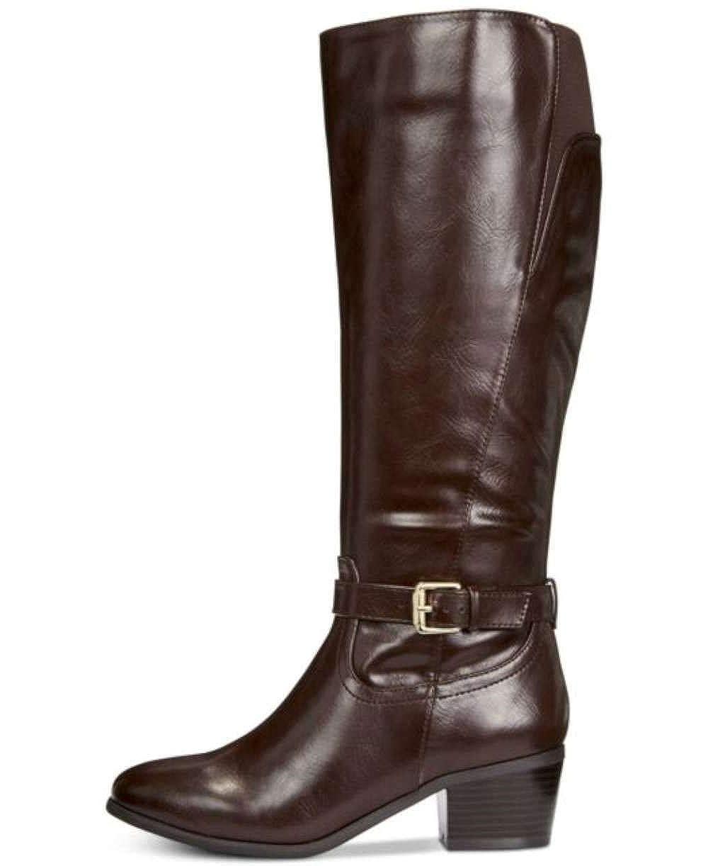 Dk Brown Karen Scott KS35 Fayth Below The Knee Riding Boots, Black