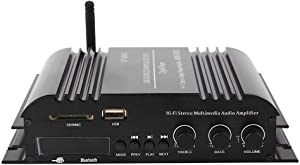Tangxi Lepy Hi-Fi Stereo Home Audio Amplifier, Multimedia 4-Channel 180w (45WX4RMS) Bluetooth Power Amplifier Audio Amp Booster USB SD DVD CD FM MP3 for Car Vehicle Booster