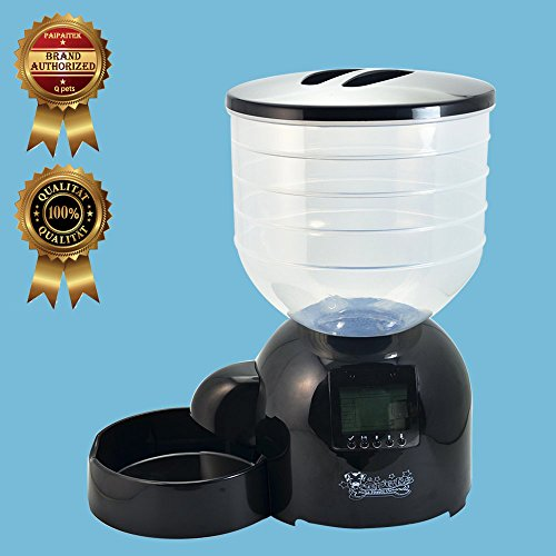 10-Lbs-45KG-Automatic-Pet-Feeder-Programmable-Dog-Cat-Puppy-Bowl-Food-Dispenser-by-Qpets