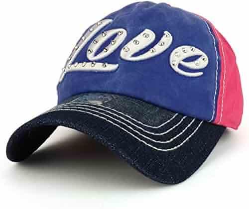 12437ad64e0633 Trendy Apparel Shop Love 3D Embroidered Stitch Multi Color Baseball Cap