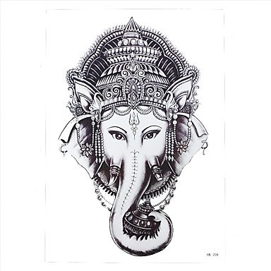 Generic 1pc Waterproof Women Men Body Arm Art Indian Elephant God