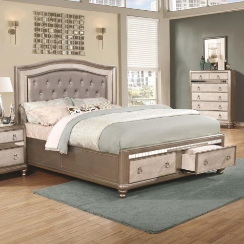 (Coaster Home Furnishings 204180KW Upholstered Bed, 81.00