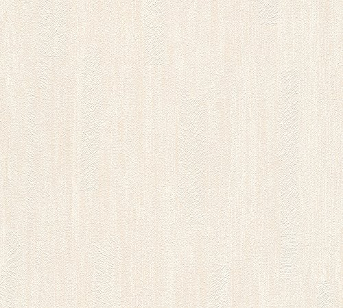Essentials Wallpaper - A.S. Création Non-Woven Wallpaper Essentials 10.05 m x 0.53 m Beige Cream Made in Germany 319402 31940-2