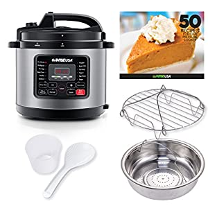 GoWISE USA GW22703 12-in-1 Multifunctional Electric Pressure Cooker with Measuring Cup, Spoon, and Stainless-Steel Steam… 10