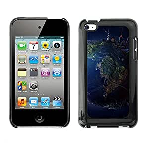Hot Style Cell Phone PC Hard Case Cover // M00101038 earth art 3d view // Apple ipod Touch 4 4G 4th
