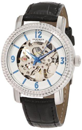 Akribos XXIV Women's AKR503SS Skeleton Automatic Strap Watch