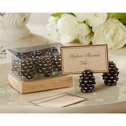 Pinecone Place Card or Photo Holders (Set of 12) by KA (Card Place Holders Christmas)