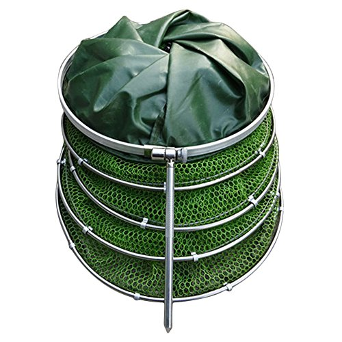 Ebow Floating Wire Basket, Collapsible fishing net cage (Rubberized Basket) ()