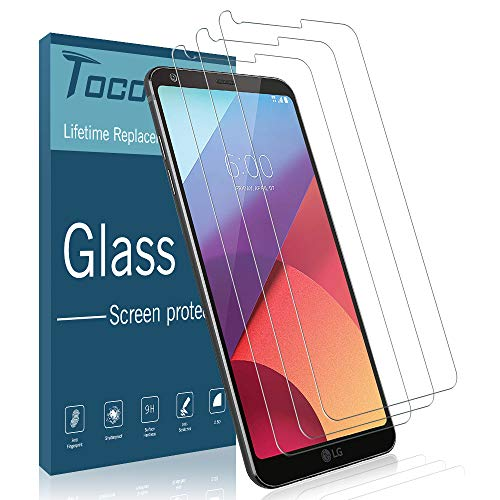 ([3 Pack] TOCOL Screen Protector for LG G6, [Case Friendly] [Japan Glass with 9H Hardness] Tempered Glass with Lifetime Replacement Warranty)