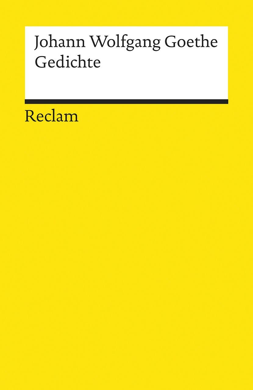 Gedichte Reclams Universal Bibliothek Amazonde Johann W