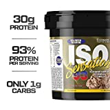 Ultimate Nutrition ISO Sensation 93 100% Whey Protein Isolate Powder with 30 Grams of Protein - Low Carb, Keto Friendly, Chocolate Fudge, 5 Pounds