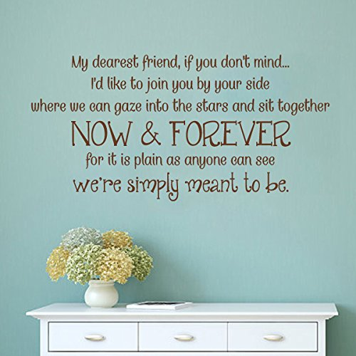MairGwall Friend Quote Wall Decal We're Simply Meant To Be Home Decor Living Room Wall Sticker (Medium,Black)