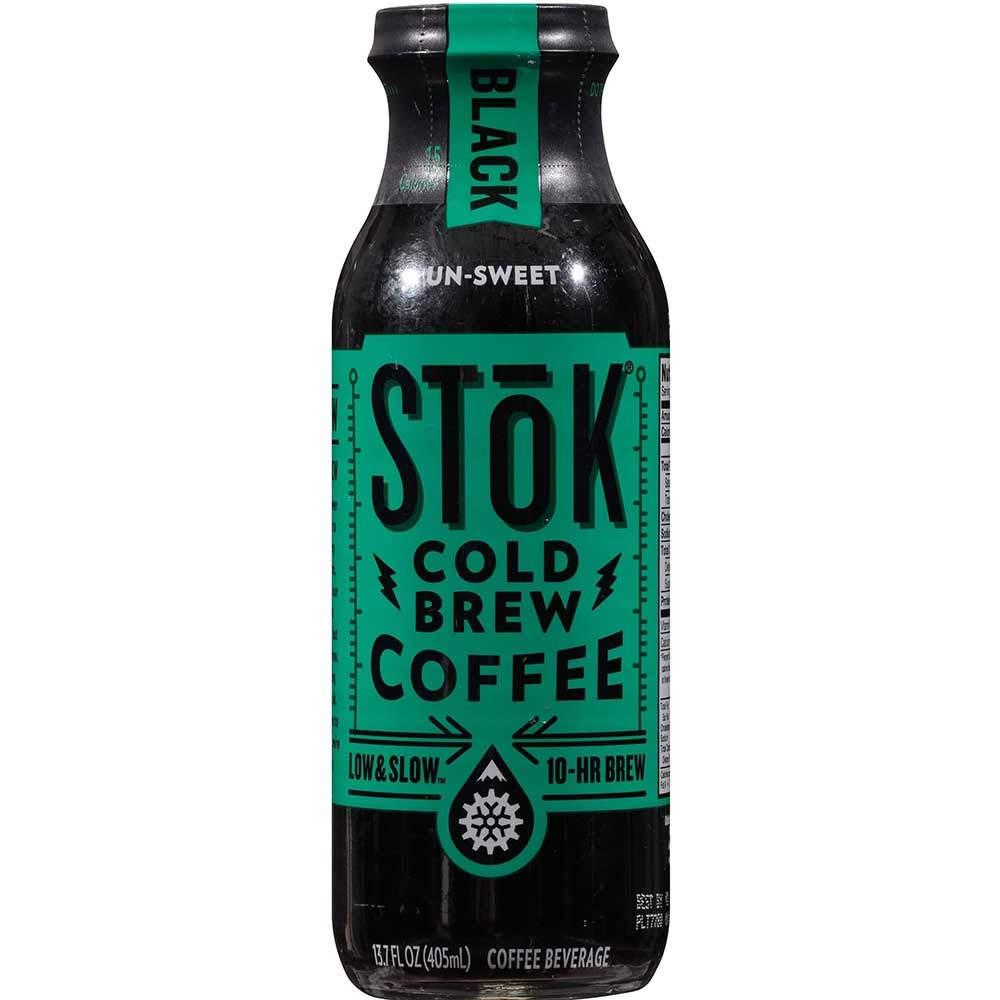 Stok Unsweetened Black Cold Brew Coffee, 13.7 Fluid Ounce -- 12 per case. by SToK