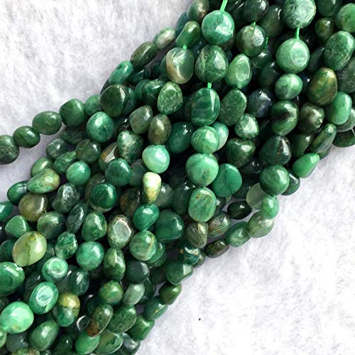 NTNH12 Beads - Natural Genuine Dark Green Africa Green Jade Nugget Free Form Fillet Irregular Pebble Small Beads Fit Jewelry 15