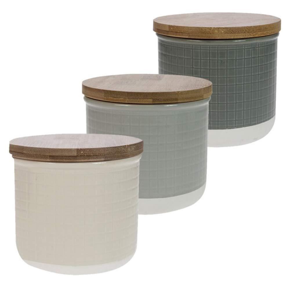 David Mason Design Maison Home Purity Set di 3 barattoli da cucina in gr/ès porcellanato ideali per t/è caff/è e zucchero