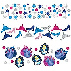 Cinderella Disney Princess Birthday Party Confetti Decoration, 1 Pieces, Made from Foil, Multicolor, 1.2 oz. by Amscan