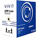 VIVO Grey 1,000 ft bulk Cat6 (CCA) Ethernet Cable (CCA) | Wire UTP Pull Box 1,000ft Cat-6 (CABLE-V004)